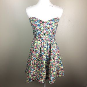 Mink Pink Skater Dress Sleeveless Floral SZ Small